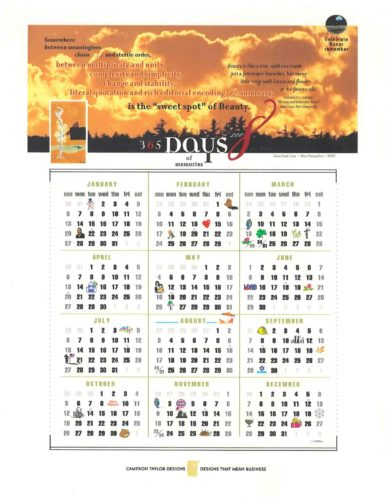 graphic design calendar
